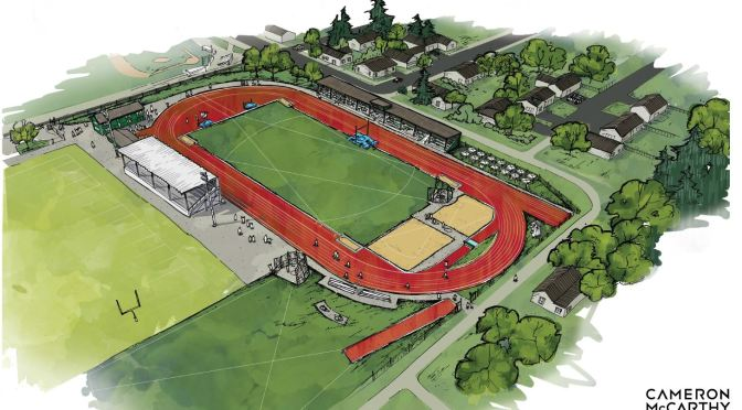 Sheldon Community Track design revealed at Darland Farm dinner