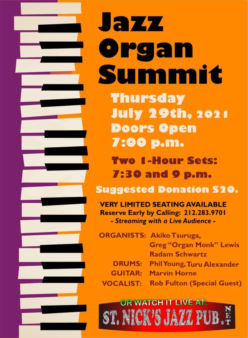 Jazz Organ Summit Update 2