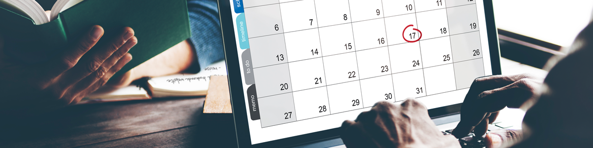 Image of a Calendar on a Computer Screen