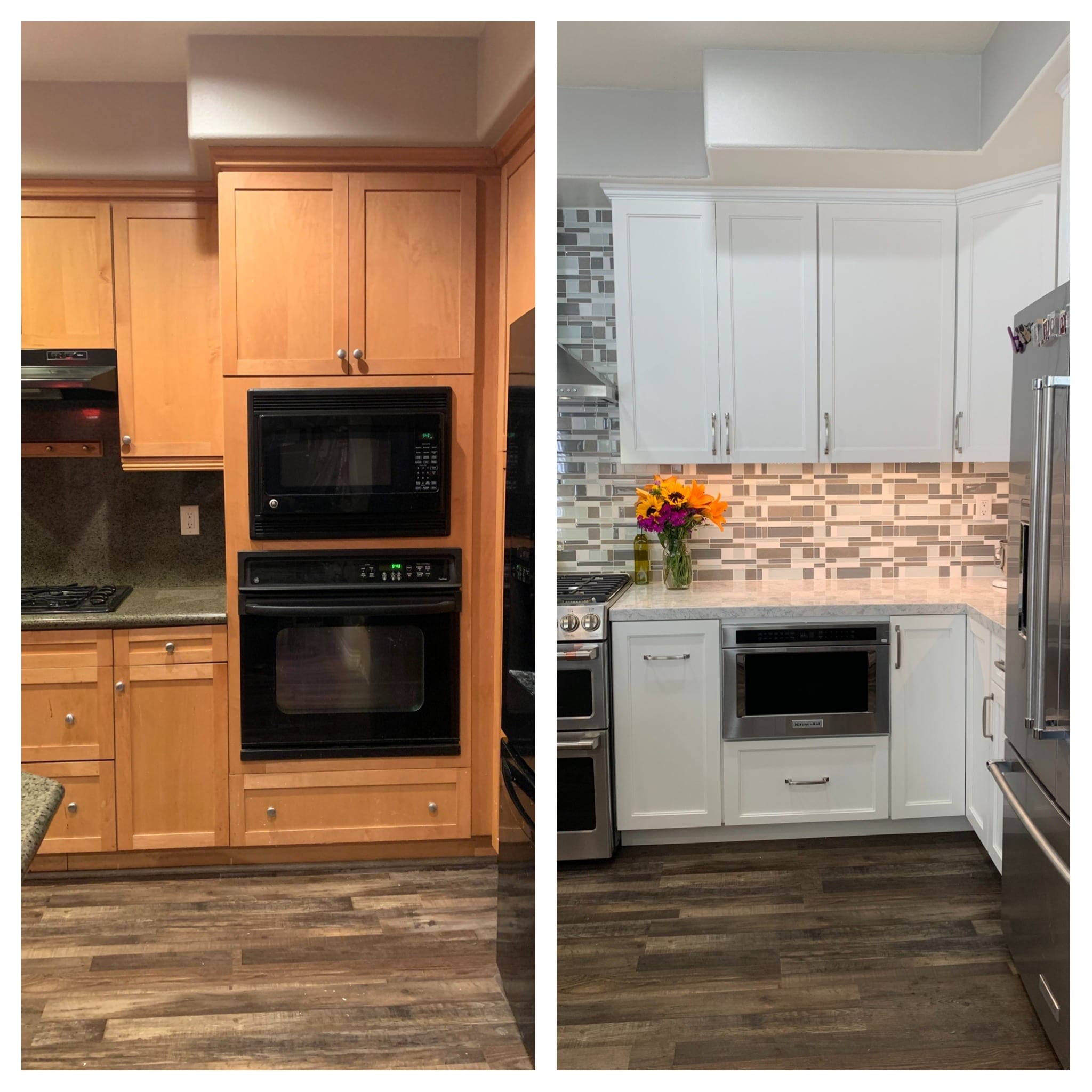 Baker's BEFORE AND AFTER Kitchen