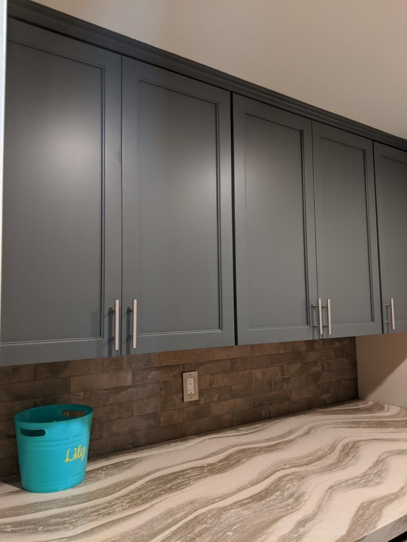 Fife's Laundry Backsplash and Custom Cabinetry