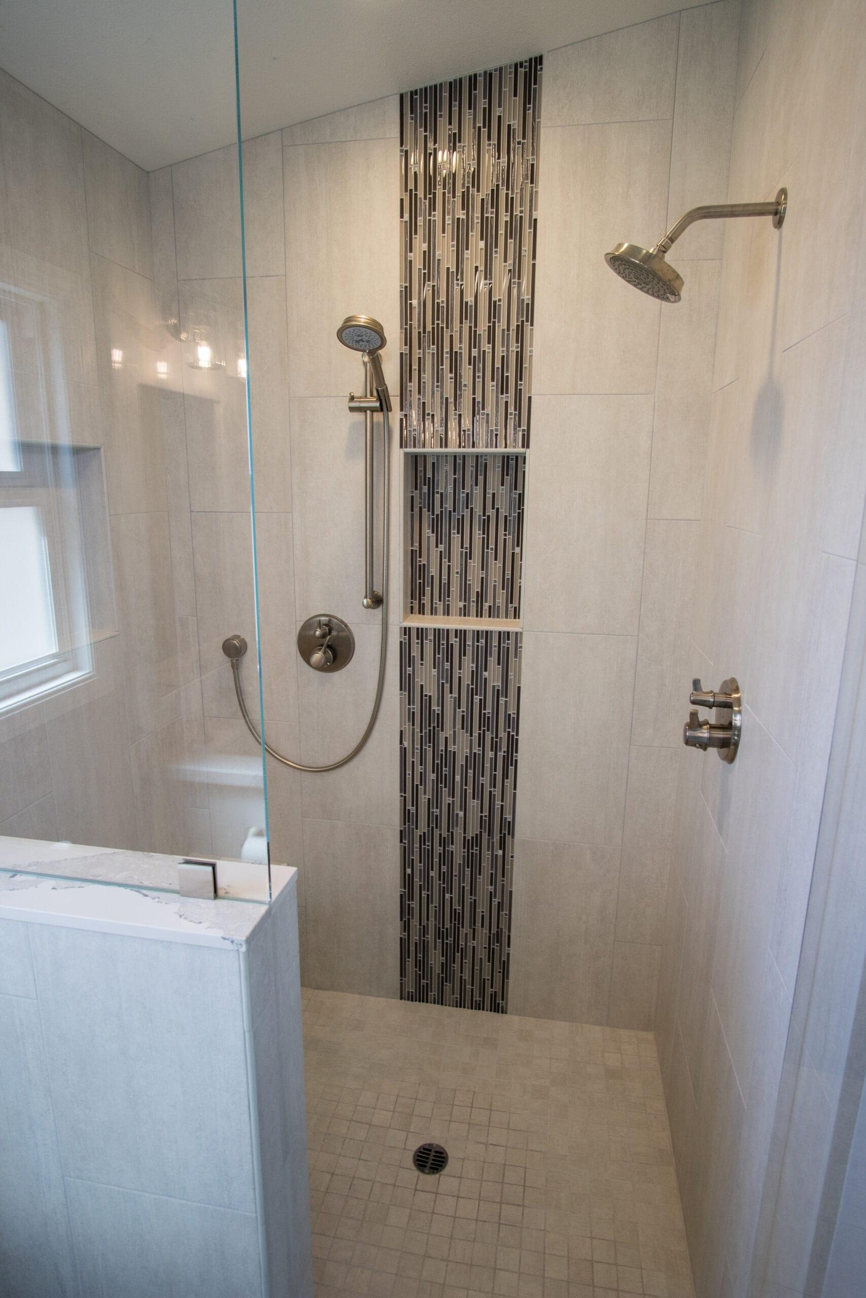 Saunders mosaic vertical tile niche