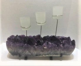 Amethyst 3 Cup Candle Holder