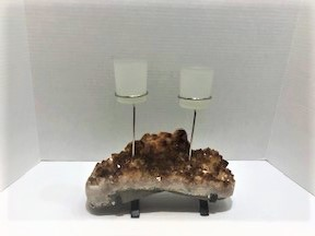Citrine 2 Cup Candle Holder