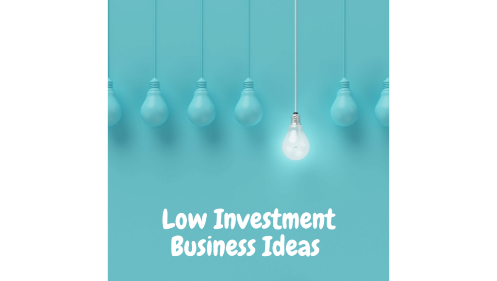 Low Investment Business Ideas
