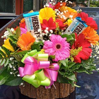flores y chocolates para cumpleaños