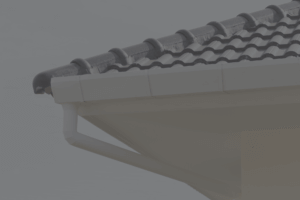 Roof with unblocked and clear gutter
