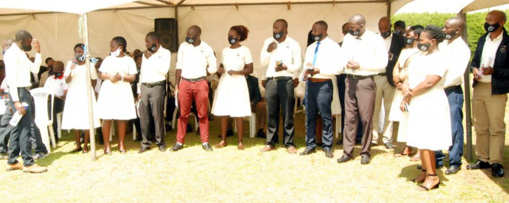 As section of staff members at the 12th AGM Ceremony which was held on the 26th of September 2020.