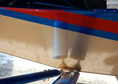 Detail photo of Savage Norden wing strut attachment
