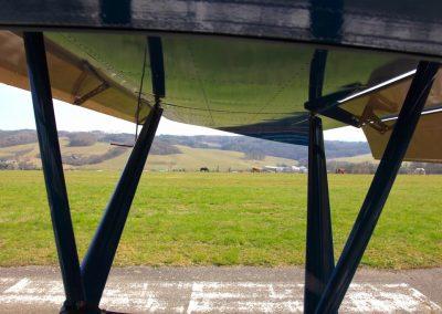 Photo under wing of Savage Norden
