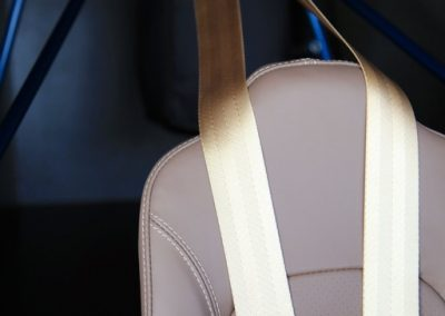 Detail photo of Savage Norden leather seat & safety harness