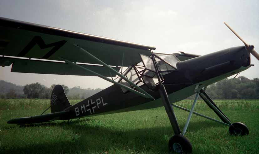 Photo of Paolo Severin's 1/4 scale model of the Fi 156 Storch