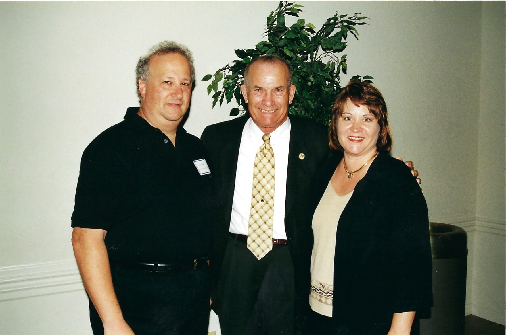Alan Medoff with Mayor Tom Wenham and Councilwoman Laurie Cohen