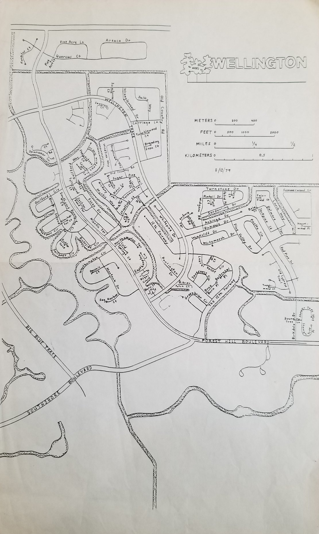Map of Wellington – August 12, 1979