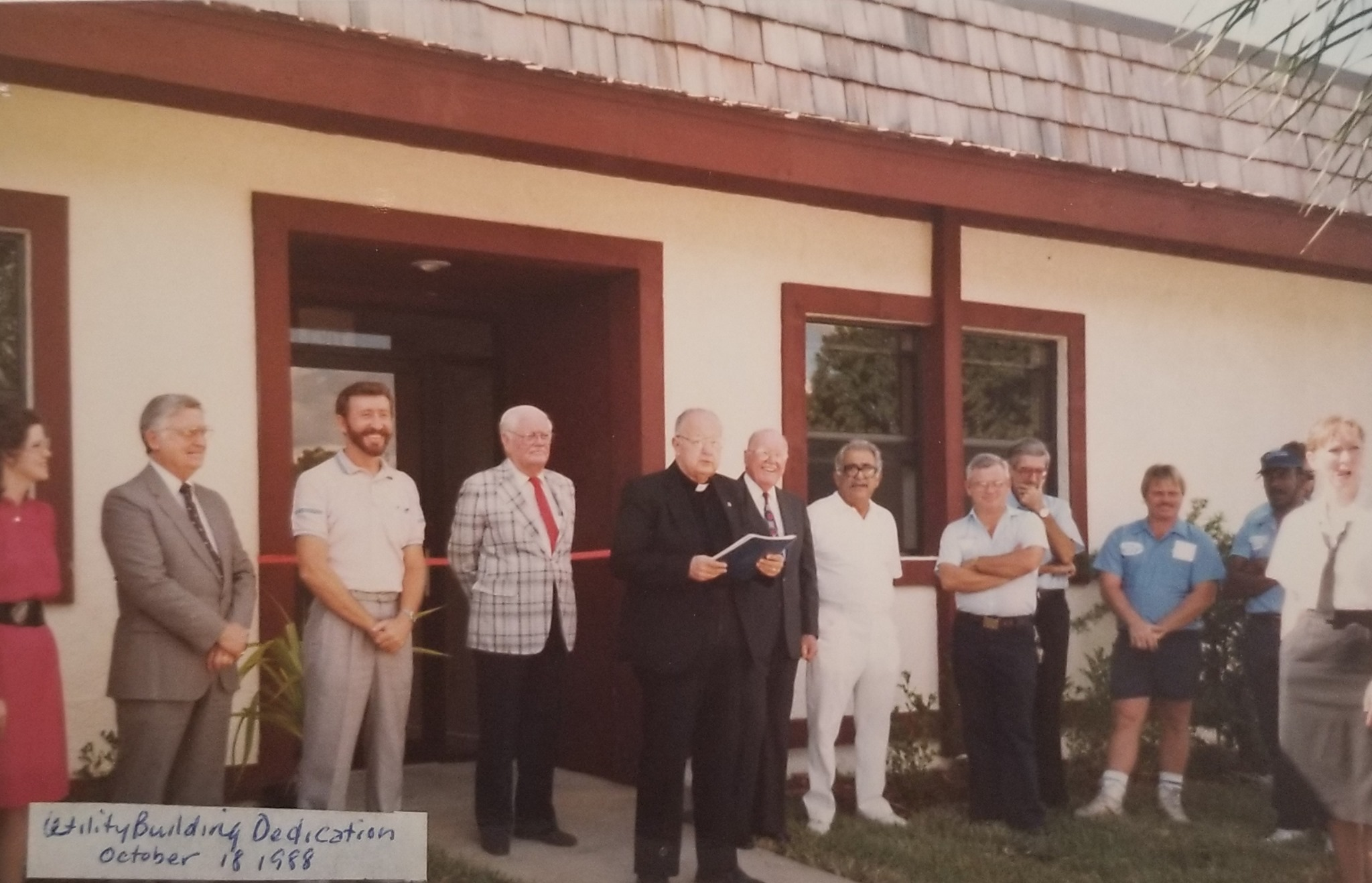 Dedication of the Wellington Utility Building – October 18, 1988