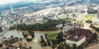 Wroclaw, powodz 1997, Ostrow Piaskowy