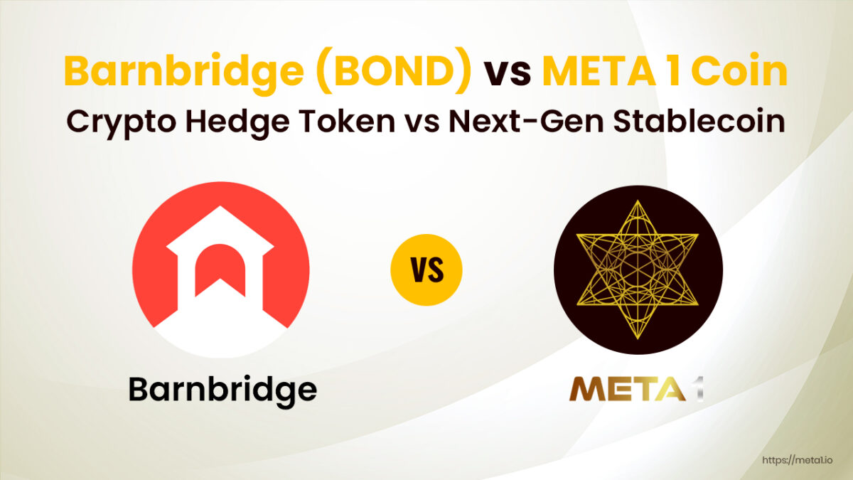 ere's some valuable insight into Barnbridge (BOND) vs META 1 and how each of these networks benefits the average crypto user.