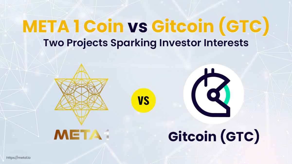 Gitcoin (GTC) and META1 Coin are two very different projects available to investors.