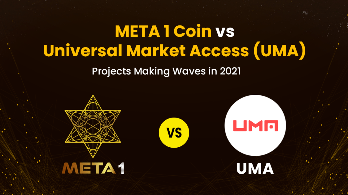 Universal Market Access (UMA) vs META1 Coin is a great way to gain a more in-depth understanding of the diversity of the blockchain sector.