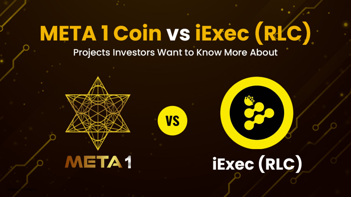 ere are the key details to know regarding iExec (RLC) vs META 1 Coin.