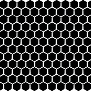 basic hexagon - Black