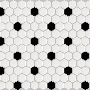 basic hexagon - black and white