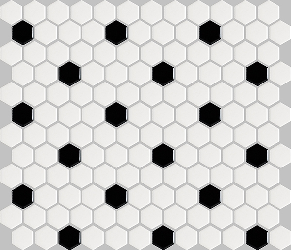 basic hexagon - black and white