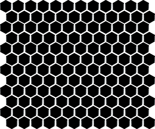 basic hexagon - Black