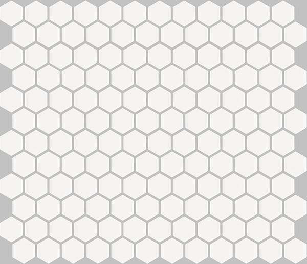 basic hexagon - white