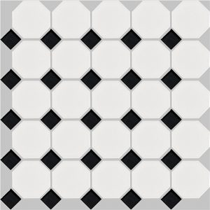 basic octagon - black and white