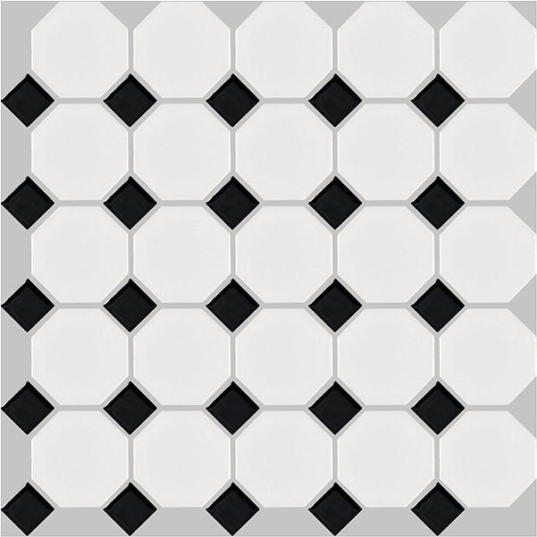 basic octagon - black and white