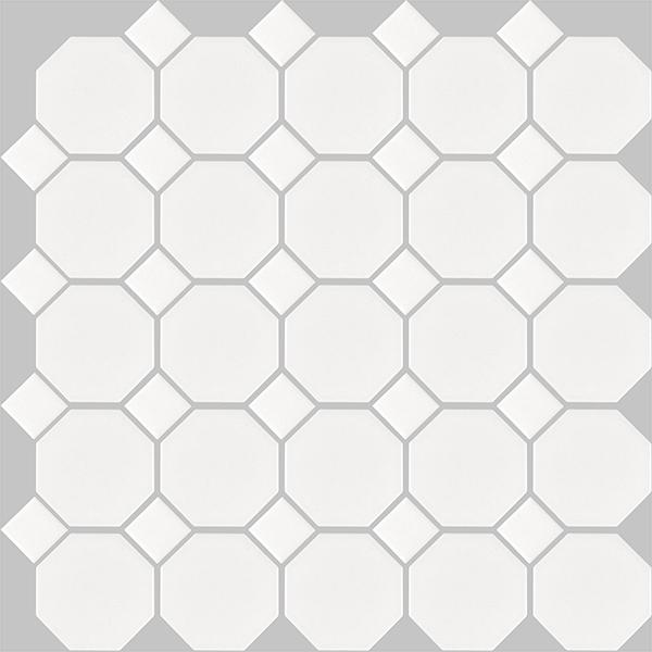 basic octagon - white