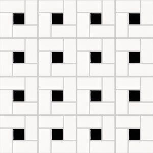 basic hexagon - spiral black and white