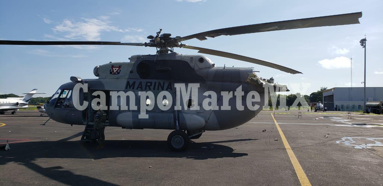 Un helicóptero Mi-17 de la SEMAR se accidentó hoy en Villahermosa