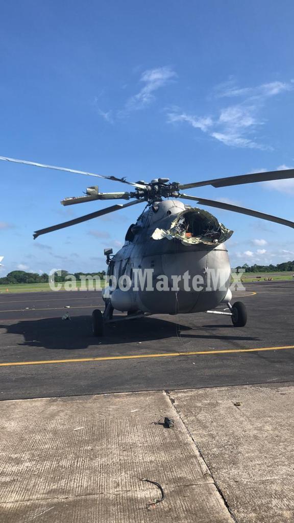 Helicóptero de SEMAR se accidenta