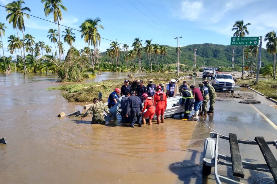 """Por huracán """"Nora"""", SEMAR activa fase de auxilio a población civil 2"""
