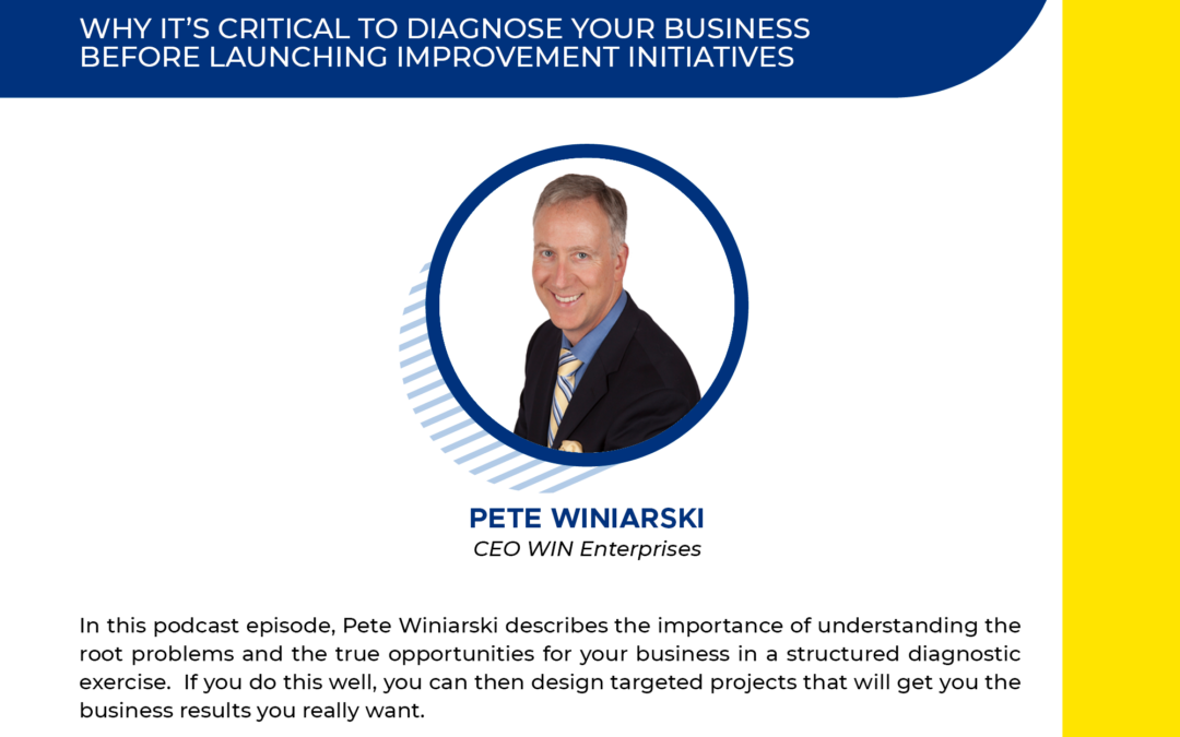 Why it's Critical to have a Business Diagnostic Before Launching Improvement Initiatives.