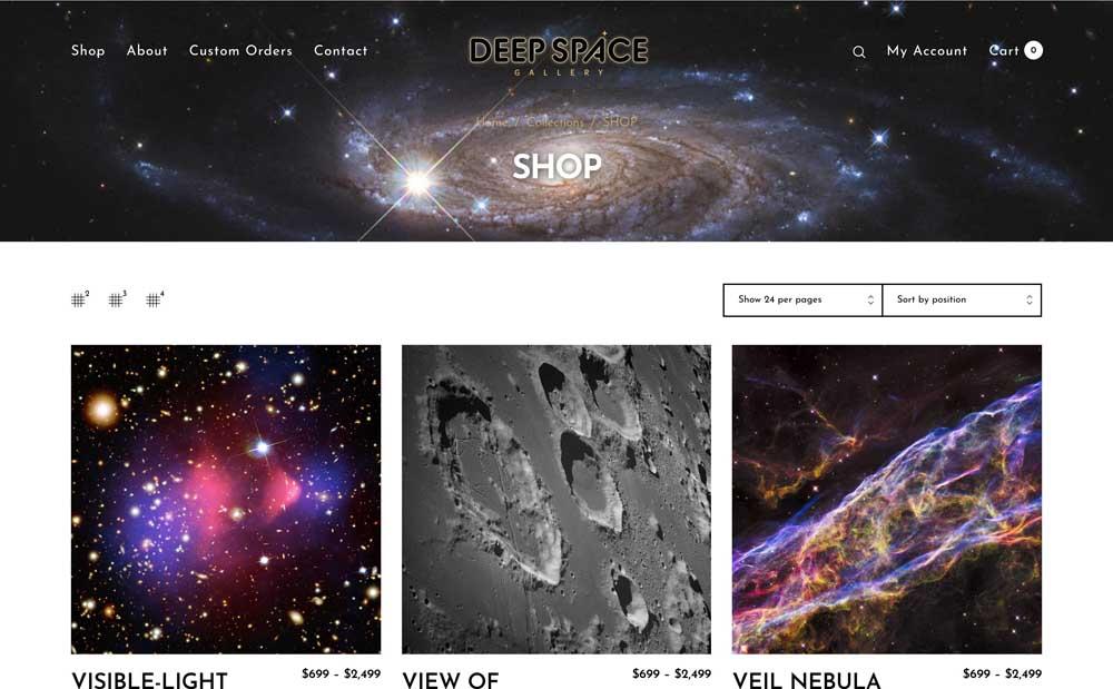 Deep Space Gallery Shop Page