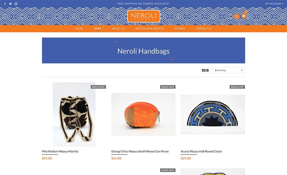 Neroli Global Shop Page