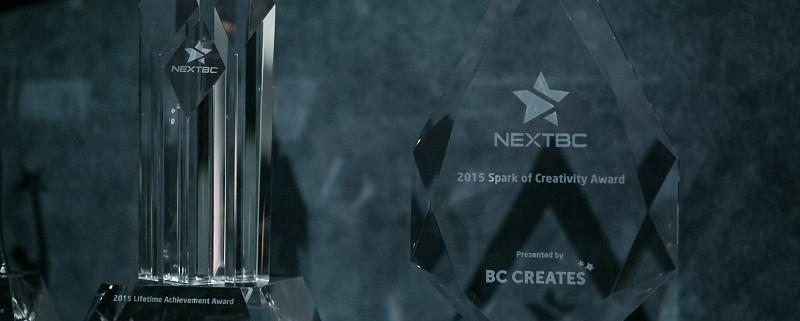 The Spark of Creativity Award at NEXTBC 2015.