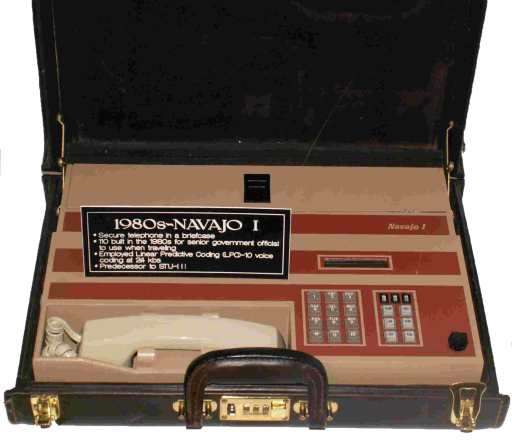 NSA's first portable briefcase secure voice terminal for top secret developed by Noel Matchett's division