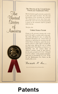 US Patent Cover representing the over 230 patents granted to ISI principals available for consulting
