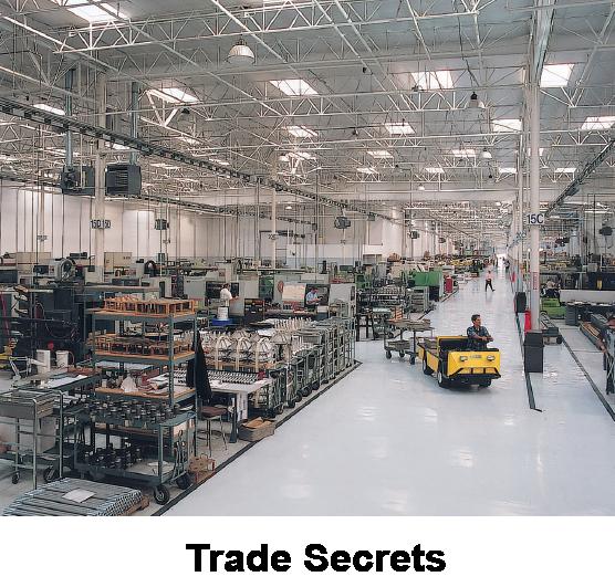 Factory floor representing trade secrets consulting