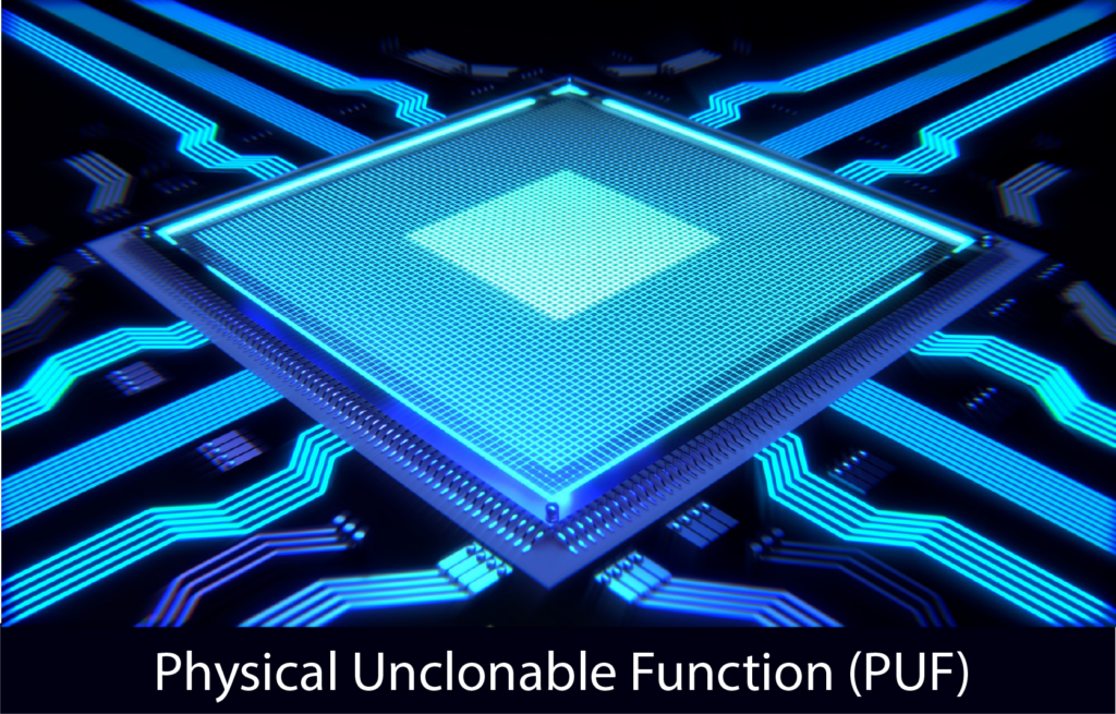 integrated circuit representing unique features our PUF technology can incorporate rendering it unclonable