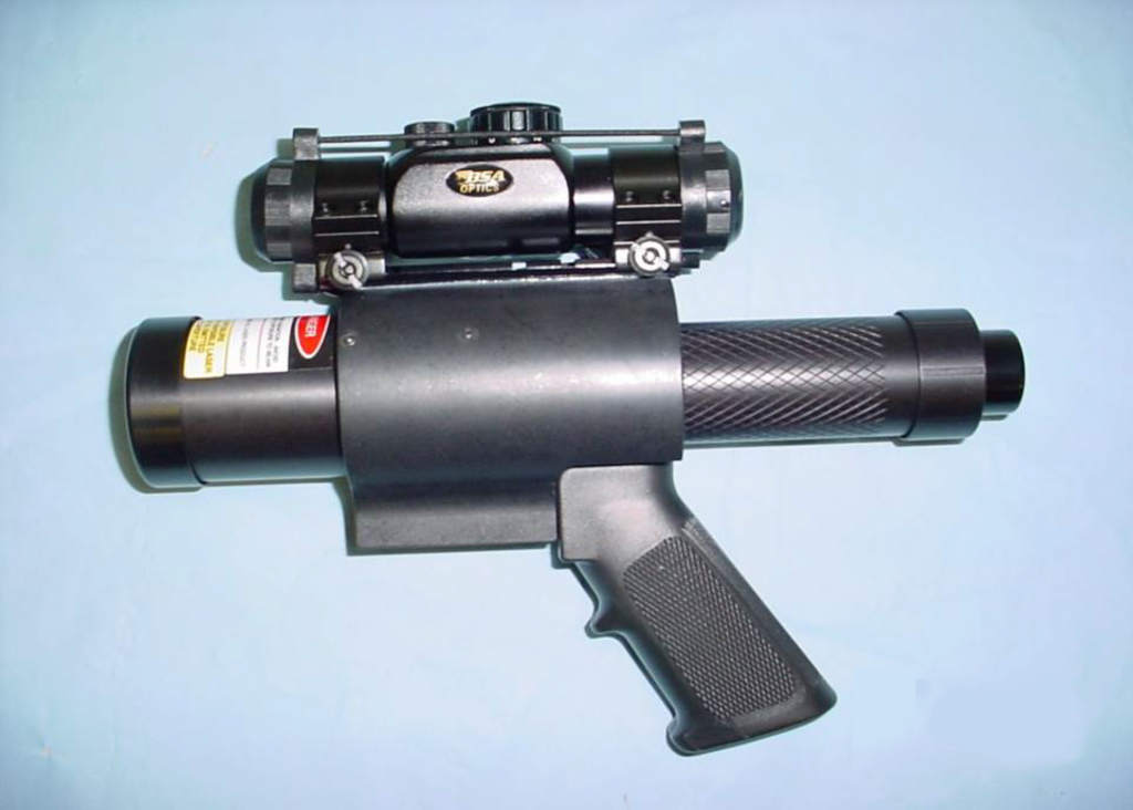 CHP Laser Dazzler side view