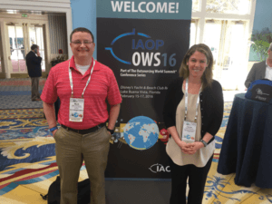 Pictured Left To Right: Mark Thompson, VP of Global Services; Lauren Kochan, VP of U.S. Operations