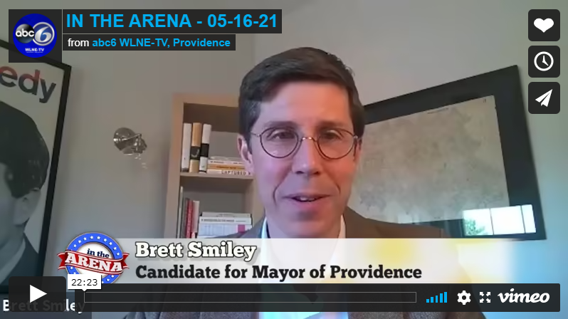 BRETT SMILEY, CANDIDATE FOR MAYOR OF PROVIDENCE, JOINS JOE PAOLINO JR. IN THE ARENA