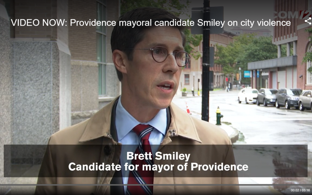 Providence mayoral candidate Smiley addresses recent violence, calls on elected officials to put politics aside