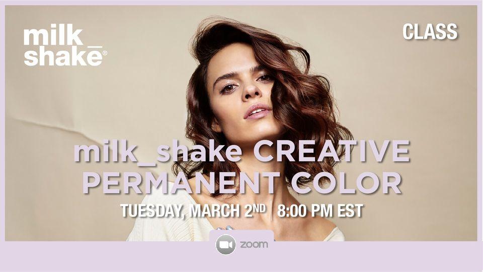 milkshake creatives permanent hair color demo
