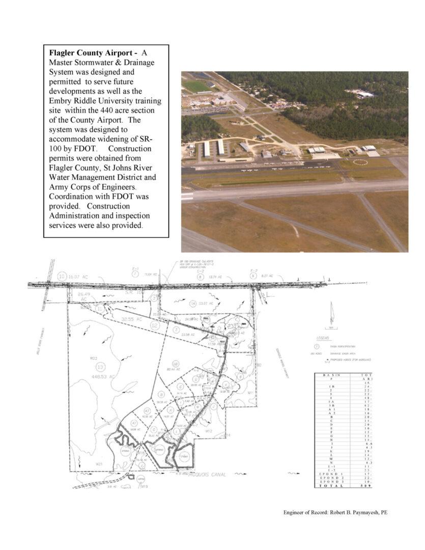 AIRPORT Flagler Airport master drainage